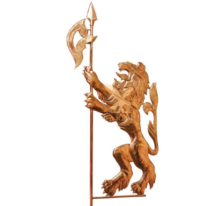 Флюгер Геральдический лев с топором МБКровля 0105002