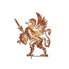 Флюгер Грифон с щитом и мечом