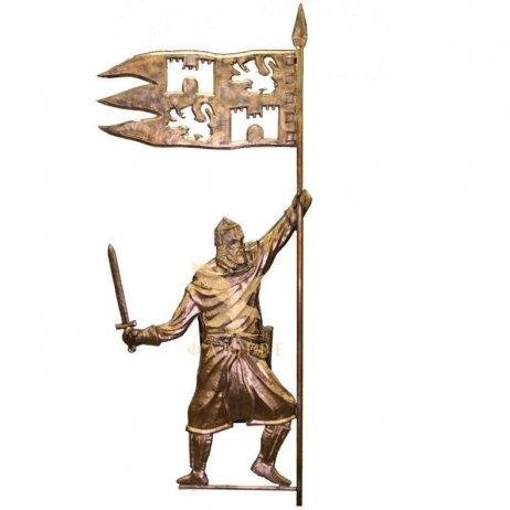 Флюгер Рыцарь с флагом эксклюзивный
