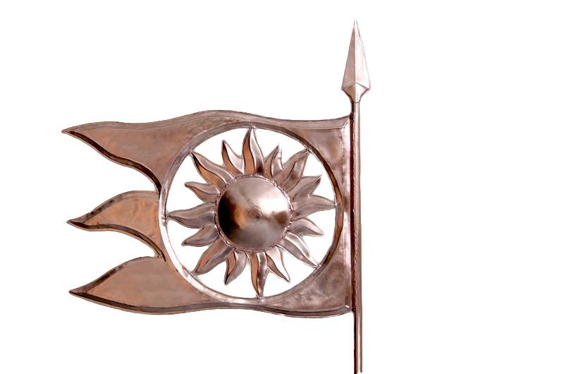 Флюгер Флаг Солнце МБКровля 0109003-03