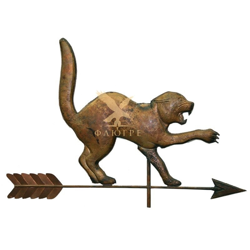 Флюгер Кошка с выгнутой спиной тип 2 МБКровля 0101007