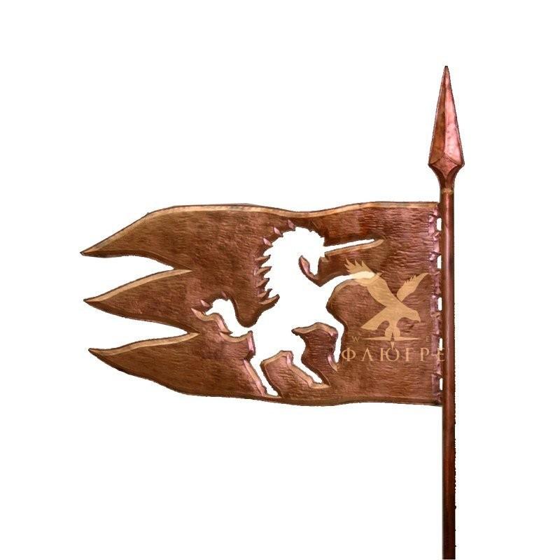 Флюгер Флаг с единорогом МБКровля 0109003