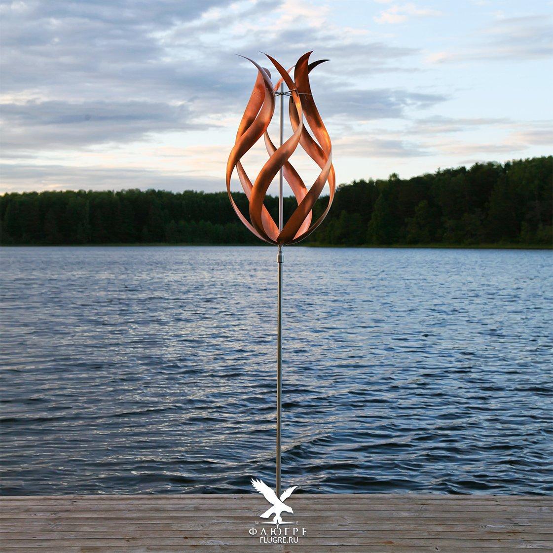 Ветряная скульптура Бутон Perpetuum
