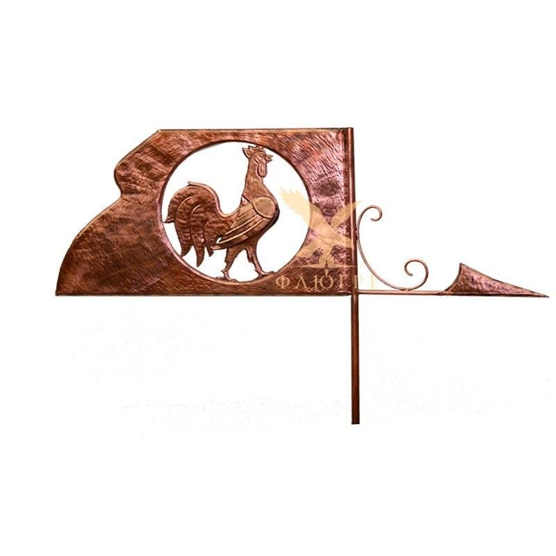 Флюгер Флаг с петухом МБКровля 0109003-2