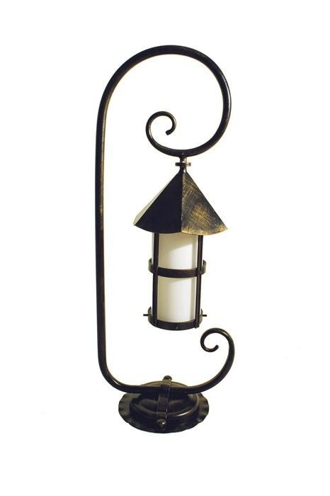 Уличный фонарь Valerie с завитком 1 м Русские фонари 150-52/bg-01