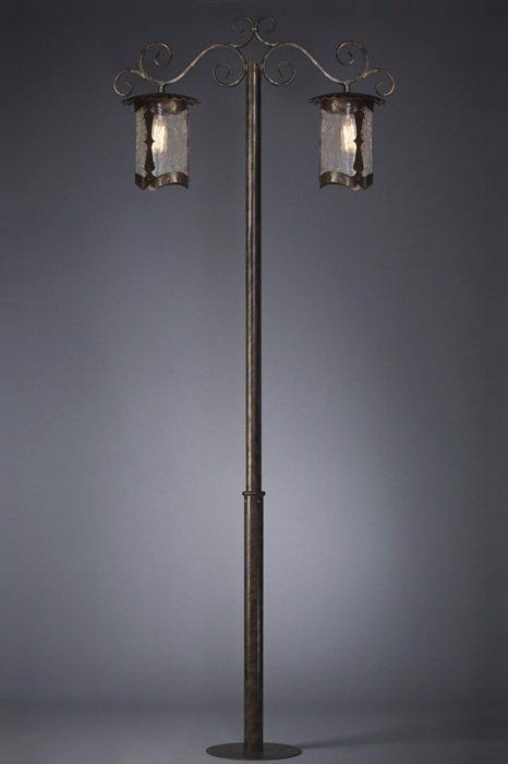 Столб 2-х головый 2,5м Валенсия Русские фонари 190-62/brg-03