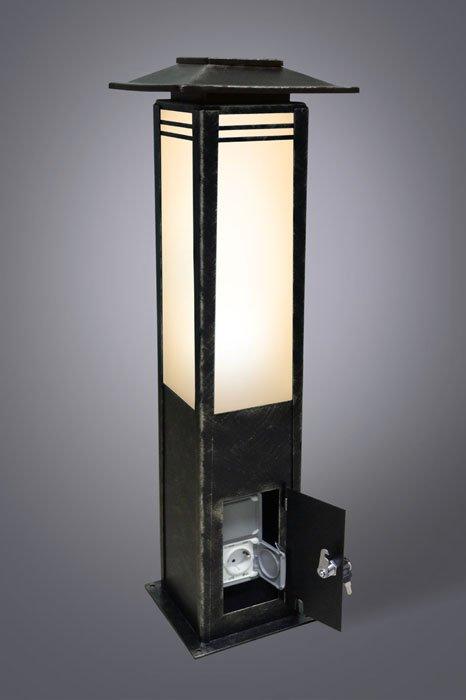 Столб с розетками 90см Новара Русские фонари 330-40/bg-11