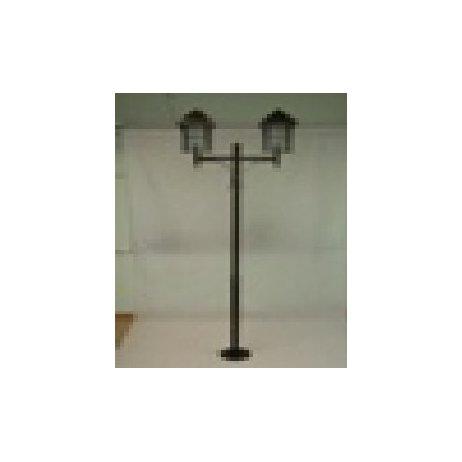 Уличный фонарь 2х-головый с наконечниками Milan 2,2 м