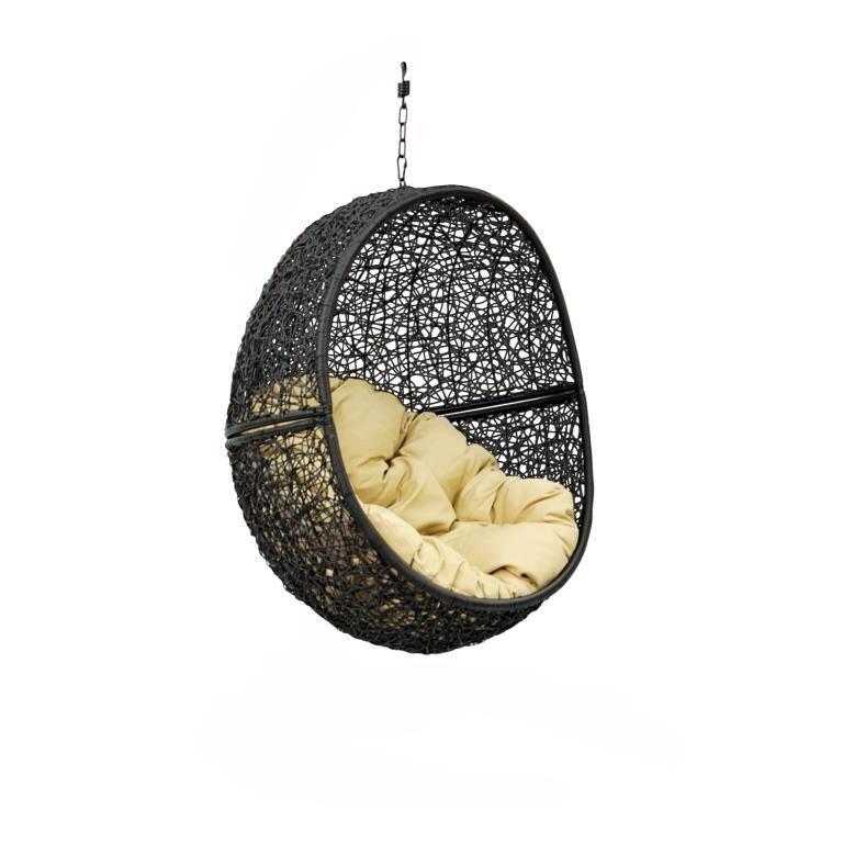 Кресло подвесное Lunar Black Bigarden