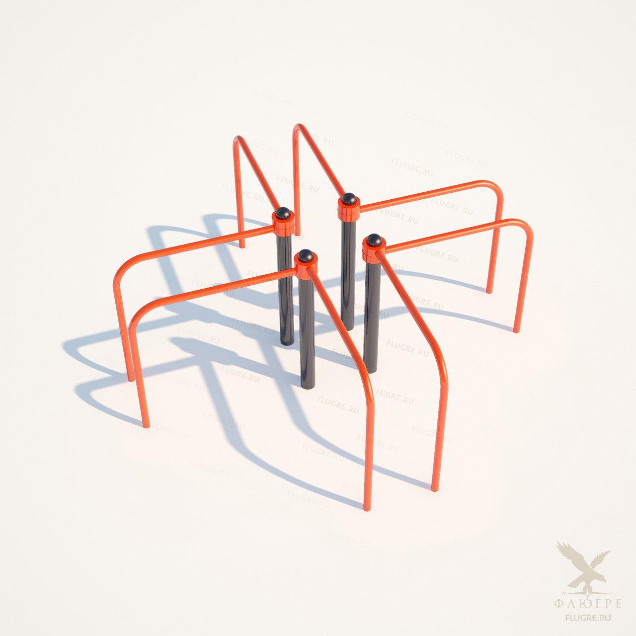 Брусья крестовые овальные Workoutcity W-015