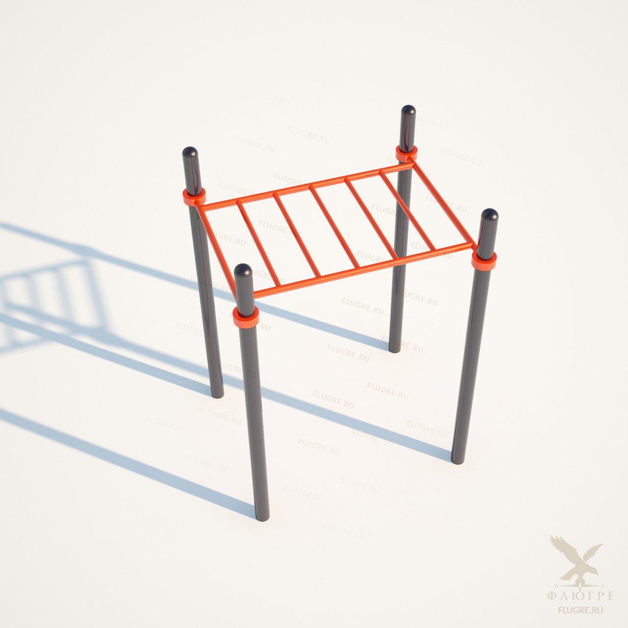 Рукоход горизонтальная лестница Workoutcity W-019