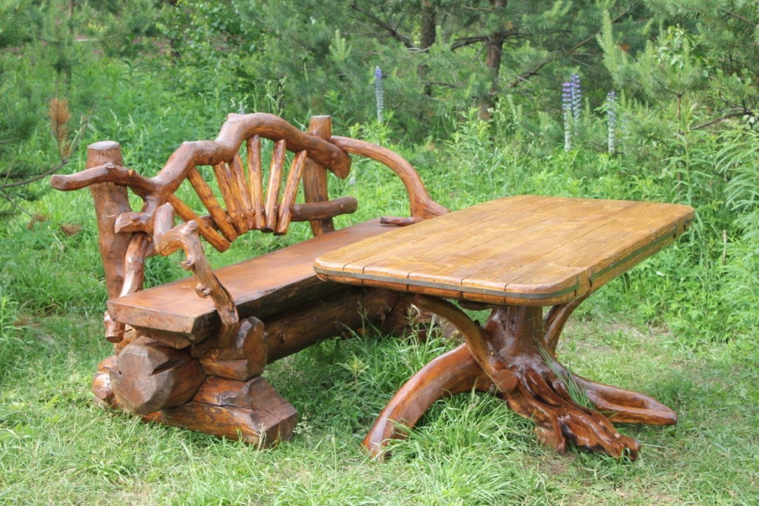 Комплект Стол и две скамейки Эрафия КМ-001