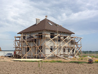 Примерка на доме в процессе постройки